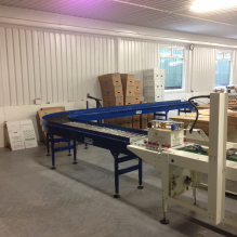 500mm wide powered roller conveyor