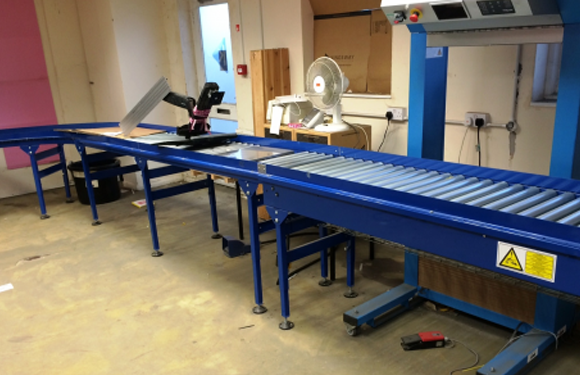 600mm Wide Powered Roller Conveyor Active Handling Systems