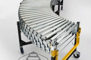Wide Flexible Extending Gravity Roller Conveyor